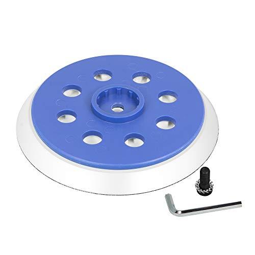 Schleifteller 125mm Klett 8-Loch für Bosch GEX 125-150 AVE Professional weich/soft für Bosch Professional Exzenterschleifer Ersatzteil - DFS