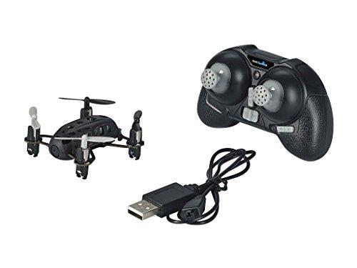 Revell Control RC Quadrocopter mit Kamera, ferngesteuert mit 2,4 GHz Fernsteuerung, Micro Modell, Geschwindigkeitsstufen, Flip-Funktion, LED-Beleuchtung, Gyro, USB-Ladegerät, NANO QUAD CAM 23923