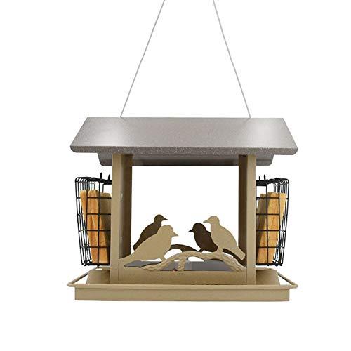 GAODINGD Comederos para pájaros Alimentador de pájaros de Panorama al Aire Libre,con el alimentador de Aves Colgando del Techo para el Patio de la decoración del Patio del jardín fácil de Limpiar