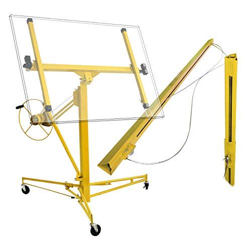 Plattenheber Profi Set Montagehilfe Pro 350 cm + 140 cm Verlängerung bis max 465 cm und 68 kg