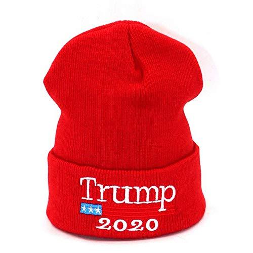 Teekit Donald Trump 2020 Bonnet tricoté avec broderie, élastique, respirant, pour l'hiver