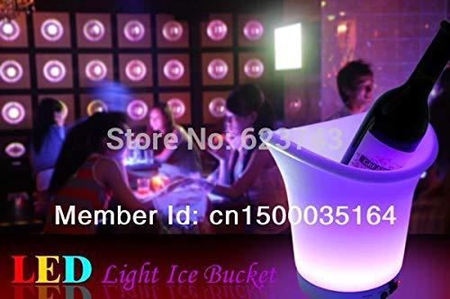 Barra de Muebles de Cubo de Hielo de Color Iluminado con Enfriador de Barril de Cerveza decoración de Fiesta