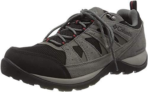 Columbia Redmond V2, Zapatos de Senderismo Impermeables Hombre, Negro (Black, Rocket), 42 EU