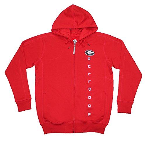 BIG & TALL GEORGIA BULLDOGS Mens NCAA Athletic Zip-Up Warm Hoodie / Jacket 2XL Red image