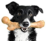 Pet Qwerks Boar BarkBone Pork Chop Flavor Chew Toy - For Aggressive Chewers, Tough Durable Extreme Power Chew Toy, Indestructible | Made in USA - For Large Breed Dogs, Brown, X Large