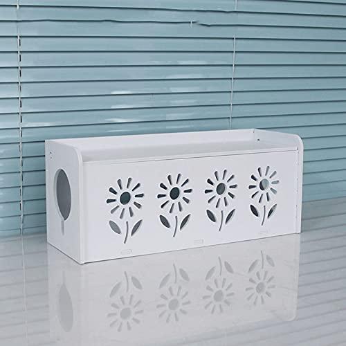 PWLDD Decodificador Multifunción Rectangular Caja De Almacenamiento De Cables Enchufe De Administración De Cables Regleta De Alimentación Cajas De Almacenamiento De Cables,Sunflower