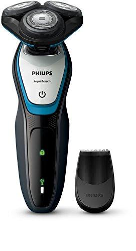 Philips AquaTouch S5070/04 - Afeitadora (Máquina de afeitar de rotación, SH50, 2 año(s), Azul, Gris, AC/Batería, Níquel-metal hidruro (NiMH))