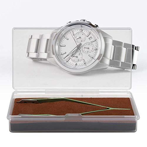 Prácticas pinzas en forma de V Mano de obra exquisita Herramienta de reparación de relojes Pinzas de reparación de relojes Duraderas con puntas de horquilla Material metálico