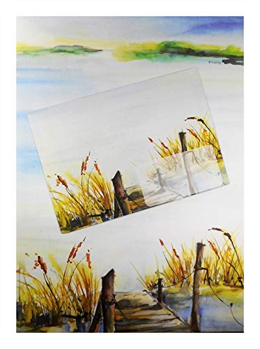 Schreibset A4 Maritim Düne Steg Gras Strand 10 Bögen Briefpapier & 8 Umschläge Deko GWUP 25612