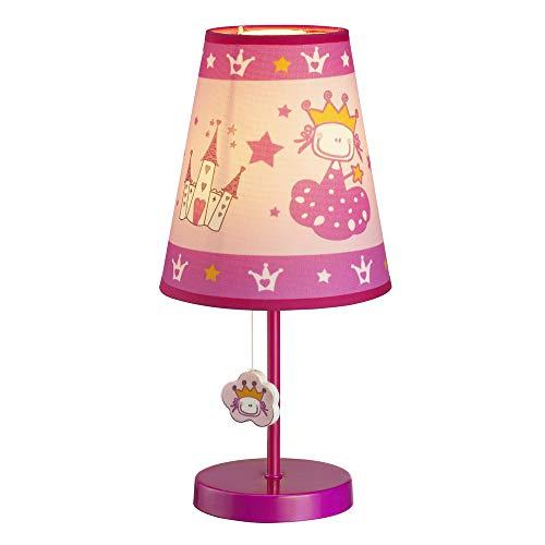 Wonderlamp W-A000124 Lámpara de mesilla infantil Princesa, Color Rosa
