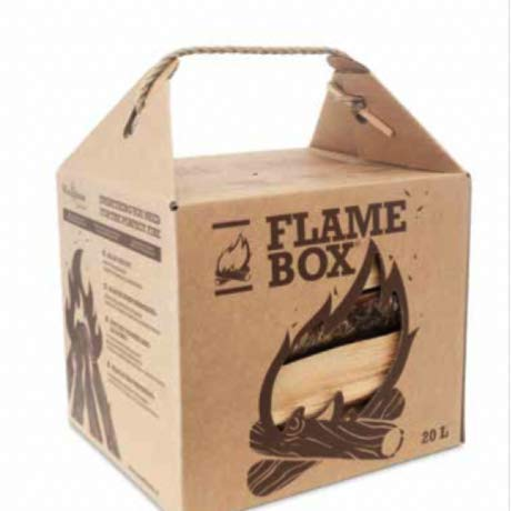 JSM Flamebox Grillholz Birke BBQ Set ofenfertig, Scheitlänge ca. 25 cm - für Kamin, Ofen, Feuerschalen, Lagerfeuer - Birkenholz Kaminholz Feuerholz Grillholz