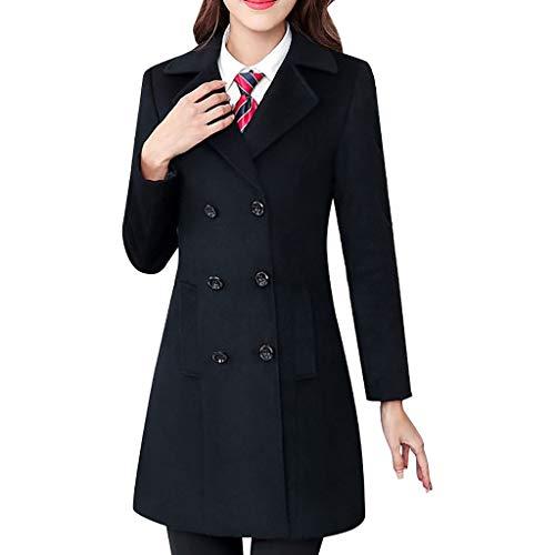 MMcloud Mujer Invierno Abrigo Casual Sudadera Con Capucha Chaqueta de Lana Capa Jacket Parka Pullover