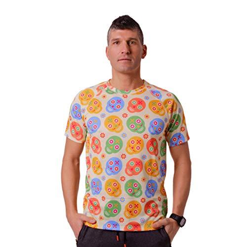 HOOPOE Camiseta de Calaveras Hombre, Manga Corta, Running, Gimnasio #Skully Talla L
