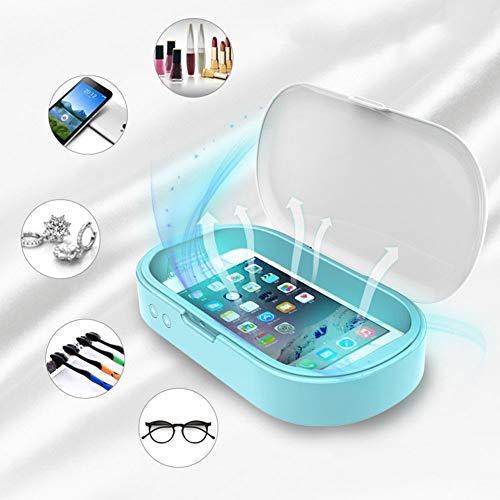 Hmyloz Uv-sterilisator box met dubbele LED-aromatherapie, desinfectiefunctie voor mobiele telefoon, tandenborstel, woonkamer, gereedschap sieraden horloges