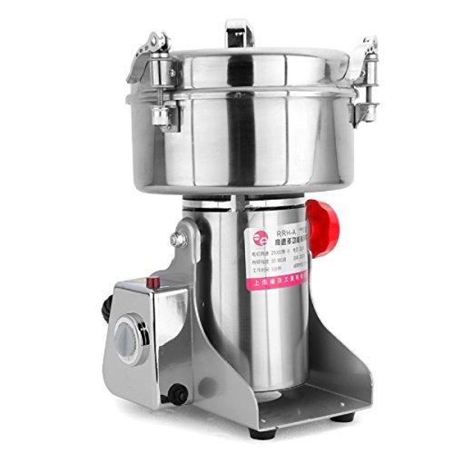 RRH 2000G Electric Grain Grinder Mill Spice Nut Coffee Grinder 25000 RPM Stainless Steel Mill Grinder 4000W Powder Machine 50-300 Mesh, for Herbs Corn Sesame Soybean Pepper Bait Feed