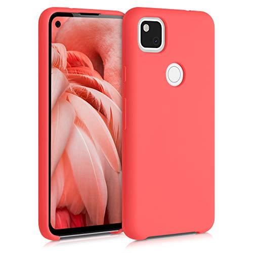 kwmobile Cover Compatibile con Google Pixel 4a - Custodia in Silicone TPU - Back Case Protezione Cellulare Corallo Vivo