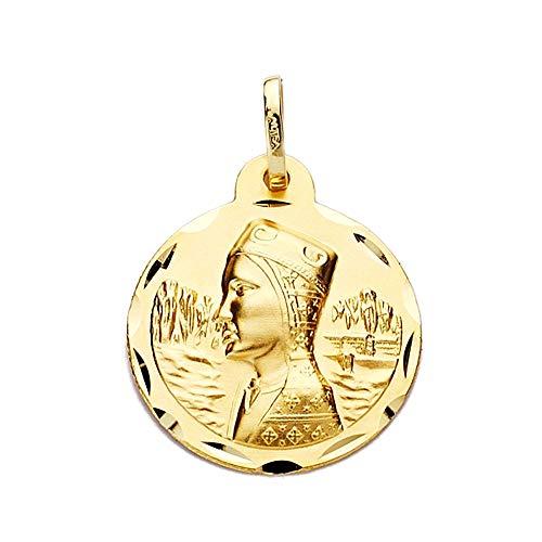Medalla Oro 18K Virgen De Montserrat 20mm. Labrado Tallado [Aa2526]