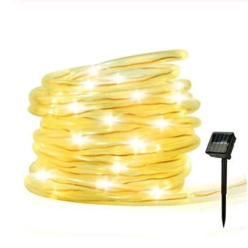 GZSC Outdoor zonnelampen 7M / 12M 50/100 LEDs zonne-kabel-slang-snoer-licht-fee waterdichte solar-tuinverlichting koperdraad lichten