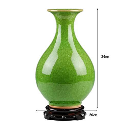 JKL Vase Kreative Moderne Keramik Blume New Chinese Home Wohnzimmer Dekoration TV Schrank Dekoration,2