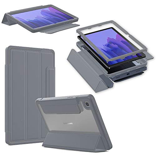 Wigento Für Samsung Galaxy Tab A7 T500 / T505 2020 Outdoor Schutzhülle Hülle Grau Tablet Tasche Cover Etuis