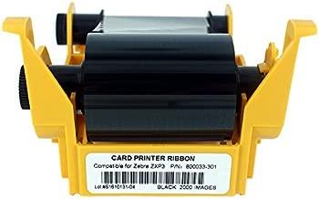 800033-301 Black Monochrome Ribbon For Zebra ZXP3 ZXP Series 3 Card Printer 2000 Prints