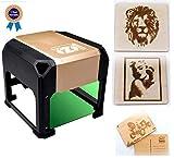 3000mW laser class 4 engraving machine Laser Engraver Printer Mini desktop laser engraver machine DIY Logo laser engraver 7.5X7.5CM (3000mW) (3000mW)