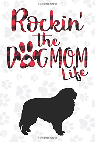 Rockin' the Dog Mom life Buffalo plaid Great pyrenees Dog Notebook: Great gift for Mom, Great pyrenees journal, Dogs Notebook Gift, Great pyrenees ... 110 Pages, 6x9, Soft Cover, Matte Finish