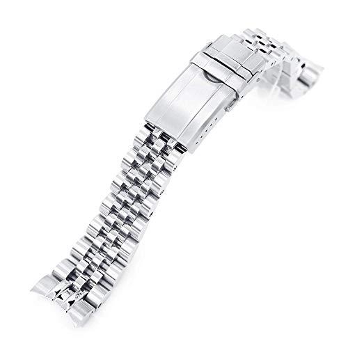 Strapcode, bracciale per orologio, 20 mm, in acciaio inox 316L, per Tudor BB58, chiusura girevole spazzolata