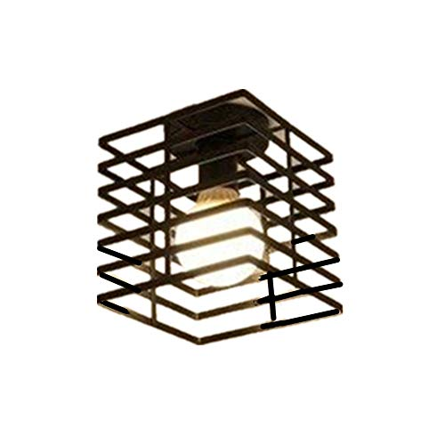 Plafondlamp Hanglamp Fitting Lampenkap Voor Plafond Slaapkamer Zwart Licht Schaduw Plafond Lampen Voor Thuis Decoratie Retro Plafond Verlichting square
