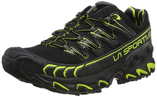 La Sportiva Ultra Raptor, Zapatillas de Trail Running Hombre, Multicolor (Black/Apple Green 000), 47 EU