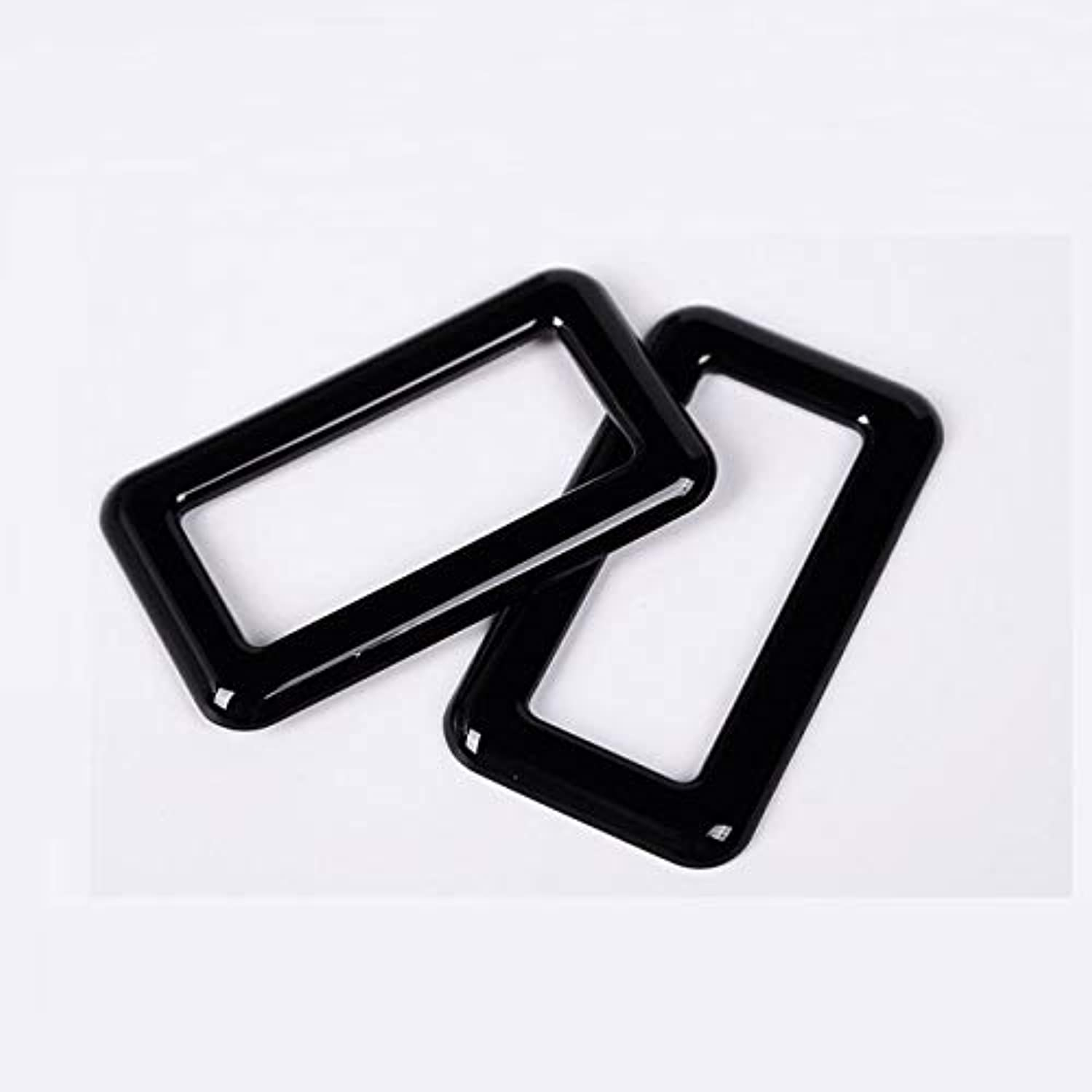 For Land Rover Discovery Sport ABS Chrome Rear Reading Lamp Frame Cover Trim for Jaguar FPace f pace CarStyling 2pcs Set  (color Name  Black)