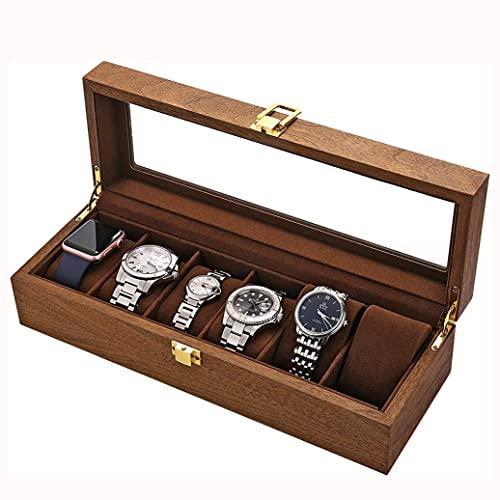 SMOOTHLY El Cuadro de Reloj Usado en Watch Box 6 Watch Glass Window Regalos adecuados para Dormitorio, Estudio, tocador