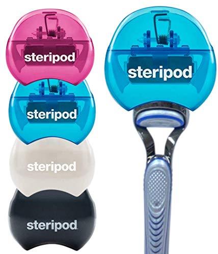 Steripod Men and Women Safety Razor Holder - Clip-On Cover Anti-Rust Blade Razor Protector Travel...