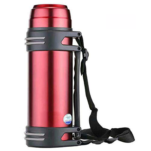 FPXNBONE Isolation sous VI goulot Large Bouteille,Tasse Thermos en Acier Inoxydable Gran capacité, Thermos-Portable Portable Rouge Wine_2L,sans BPA Mug Isotherme Voyage