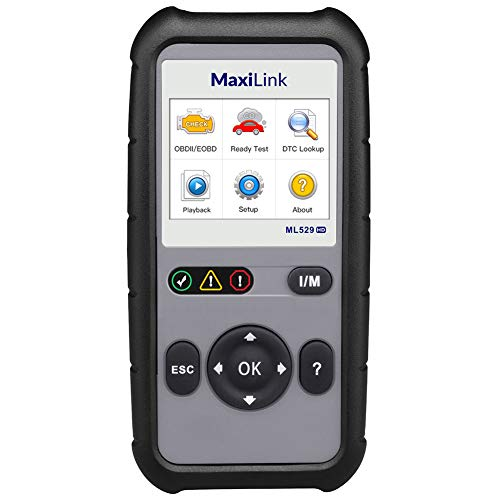 Autel ML529HD OBD2 Scan Tool Upgraded ML519 with Enhanced Mode 6/One-Key Ready Test for Heavy-Duty J1939 & J1708 with AutoVIN/Internet Updatable/Print Data