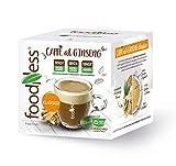 FoodNess - Capsula Caffè al ginseng classico compatibile con sistema Lavazza A Modo Mio senza glutine, lattosio e zuccheri aggiunti(3 box Tot. 30 capsule)