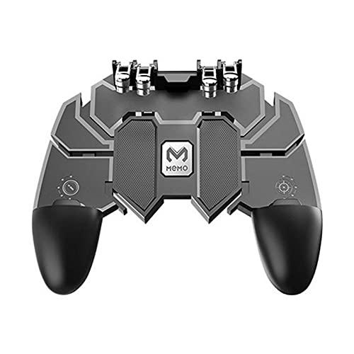 SUNSEATON Controlador de Juegos Móvil, Gamepad de Seis Dedos, Teclas de Disparo y Puntería Joystick Sensible para PUBG, para Teléfonos Universales