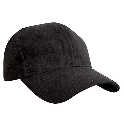 Result - Casquette Style Pro 100% Coton - Adulte Unisexe (Taille Unique) (Noir)