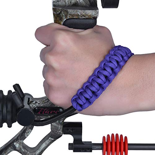 LWANO Archery Bow Wrist Sling 550 Paracord for Compound Bow for Hunting Shooting (Purple)
