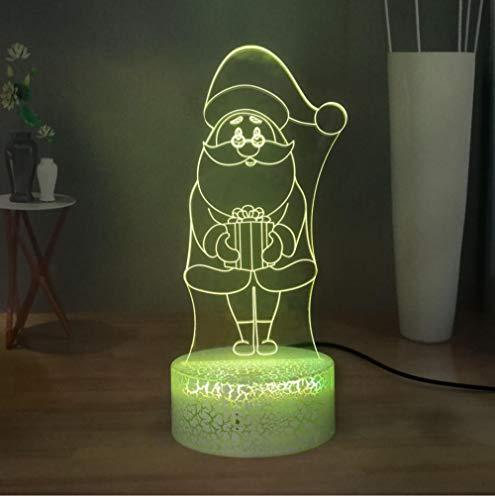QAZQAZ Lámpara de mesa moderna de Navidad Bendición navideña Preciosa luz de noche LED Dormitorio infantil Lámpara de escritorio para dormir Lámpara de cabecera
