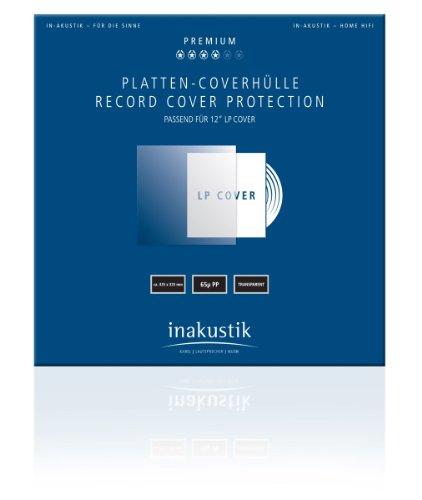 inakustik – 004528006 – Premium Platten-Coverhüllen | Schützen das Original-Plattencover vor Schmutz und Kratzern | 50er Set | 325mm x 325mm - aus strapazierfähigen Polypropylen - 65µ HDPE - 12