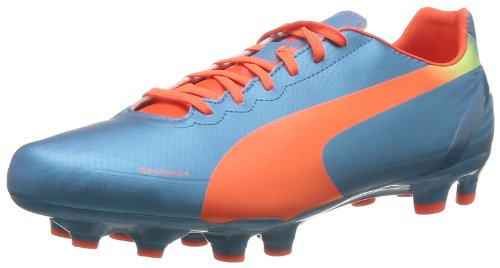 PUMA Evospeed 4.2 FG Mens Soccer Boots/Cleats-Blue-11.5
