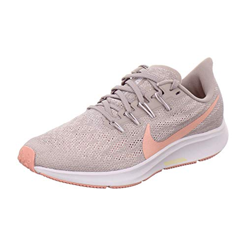 Nike Air Zoom Pegasus 36, Zapatillas de Trail Running Mujer, Multicolor (Pumice/Pink Quartz/Vast Grey 200), 38 EU