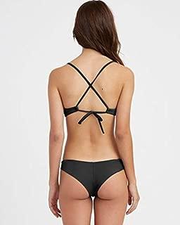 RVCA Women's Solid Cheeky Bikini Bottoms