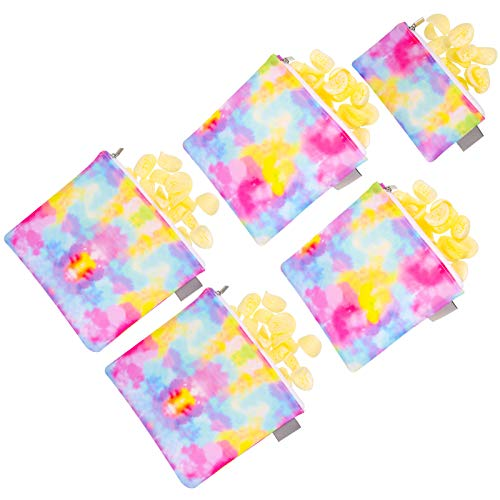 olyee Set of 5 Reusable Sandwich Snack Bags, Eco-Friendly Dishwasher Safe...