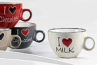 kasahome set 4 tazze da colazione cappuccino tazza latte tazzone in ceramica cappuccino bar 450 ml