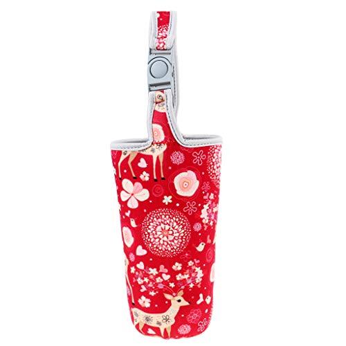 HomeDecTime Staubdicht Flaschenhalter Faltbar Trinkflasche Beutel Nylon - Rotwild