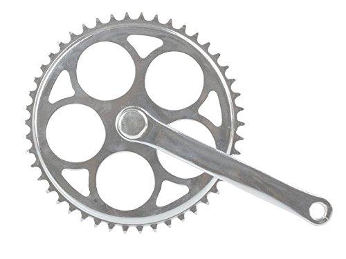 Fahrrad Stahl Kurbel Kettenradgarnitur 1-fach verchromt 46 Zähne