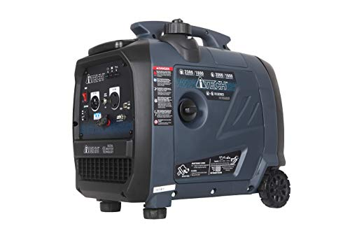 A-ITECH AT20-223001 2300 Watt Portable Dual Fuel Inverter Generator Gas & Propane Powered Small with Super Quiet Operation for Home or Emergency, RV Ready