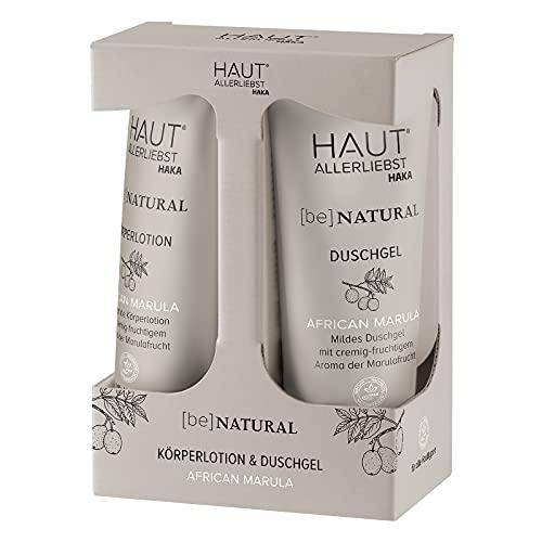 HAKA Set Duschgel + Körperlotion African Marula I Sanfte Reinigung und Pflege I Leichte Körperlotion und mildes Duschgel I Für alle Hauttypen